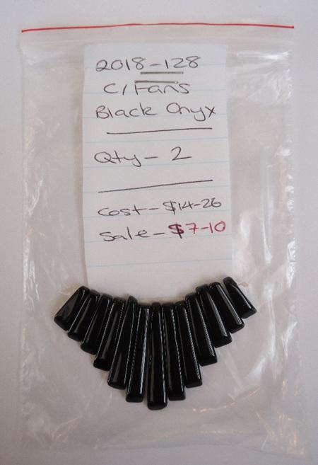 Cleopatra Fans - Black Onyx
