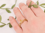 Climbing Ivy Fancy Yellow Diamond and 18ct Yellow Gold Ring On Hand