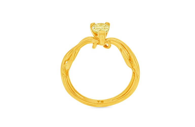 Climbing Ivy Fancy Yellow Diamond and 18ct Yellow Gold Ring