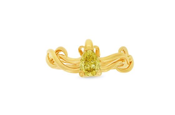 Climbing Ivy Fancy Yellow Diamond and 18ct Yellow Gold Ring