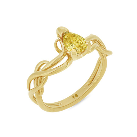 Climbing Ivy: Fancy Yellow Diamond Ring