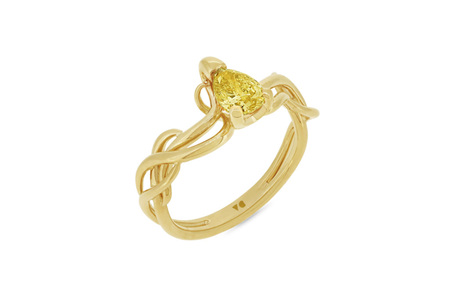 Climbing Ivy: Fancy Yellow Diamond Ring