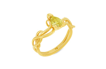 Climbing Ivy Fancy Yellow Diamond Ring