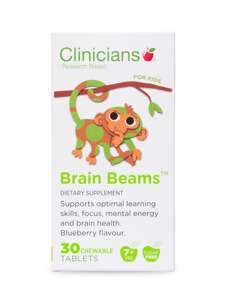CLINICIANS KIDS BRAIN BEAMS CHEW TAB 30