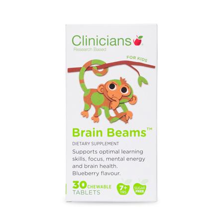 CLINICIANS KIDS BRAIN BEAMS CHEW TAB 30