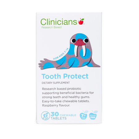 CLINICIANS KIDS TOOTH PROTECT CHEW TAB 30