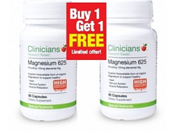 Clinicians Magnesium 125MG 90 Capsules Twin Pack Special