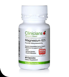 Clinicians Magnesium Aspartate 625 125mg elemental magnesium  90 capsules BUY ONE GET ONE FREE