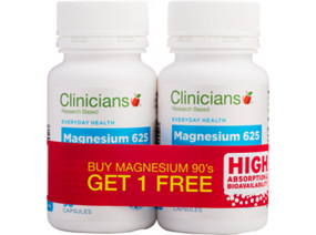 Clinicians Magnesium Aspartate 625mg Combo Pack