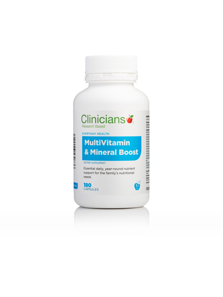 CLINICIANS MULTIVITAMIN & MIN BOOST CAPS 180