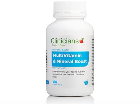 CLINICIANS MULTIVITAMIN & MIN BOOST CAPS 180