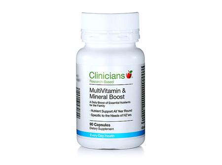 Clinicians MultiVitamin & Mineral Boost (90 caps)