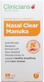 Clinicians Nasal Clear Manuka Liquid 25ml