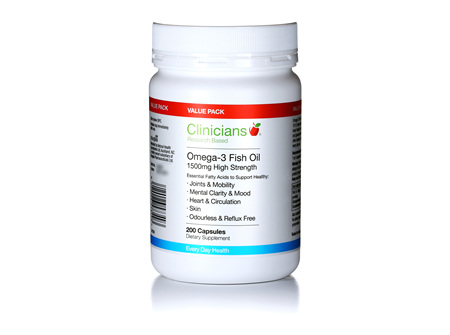 CLINICIANS OMEGA-3 1500 mg CAPS 200