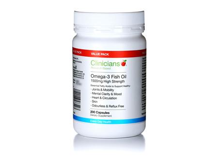 CLINICIANS OMEGA-3 1500 mg CAPS 200