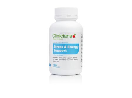 CLINICIANS STRESS & ENERGY SUPP CAPS 180