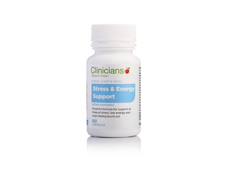 CLINICIANS STRESS & ENERGY SUPP CAPS 60