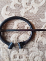Clock Pin 2 - Hand Forged Iron Oval Cloak Pin (5 cm)