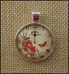 Clocks Glass Dome Key Ring