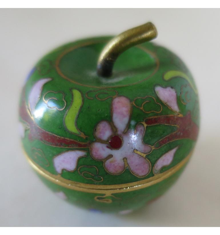 Cloisonne apple