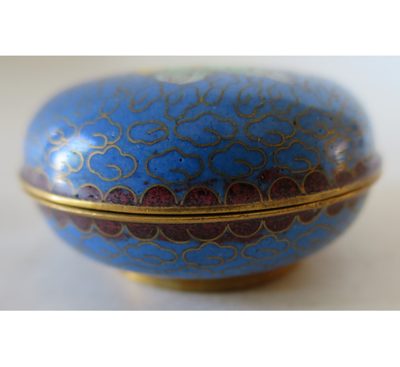 Cloisonne lidded pot