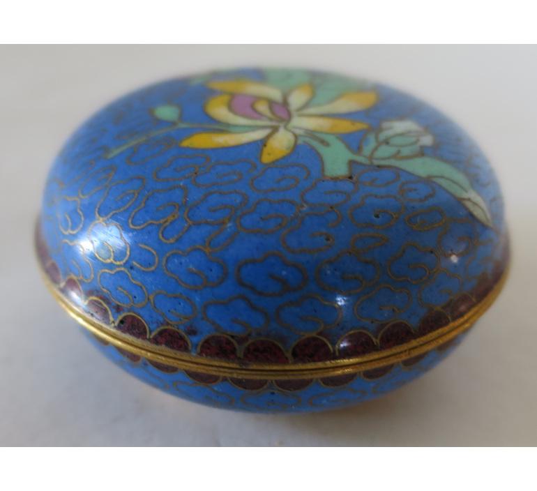 Cloisonne lidded pot