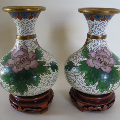 Pair small vases