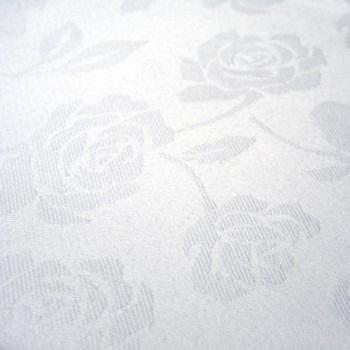 Cloth Damask Oval White 385cm x 240cm