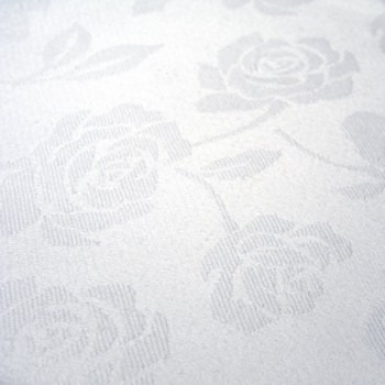 Cloth Damask Square  White 180cm w Hole