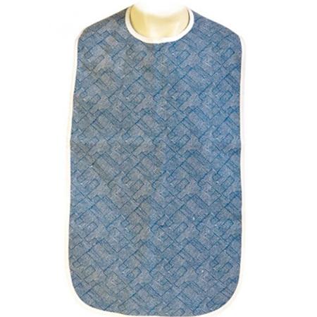 CLOTHING PROTECTOR/ ADULT BIB WATERPROOF AZURE BLUE 45 X 90CM
