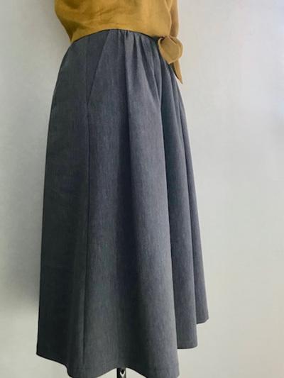 Cloudy blue Midi skirt