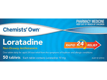 CO LORATADINE TAB 10MG 50