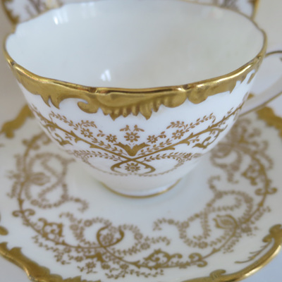 Coalport cream and gilt