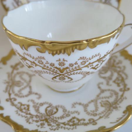 Coalport cream and gilt