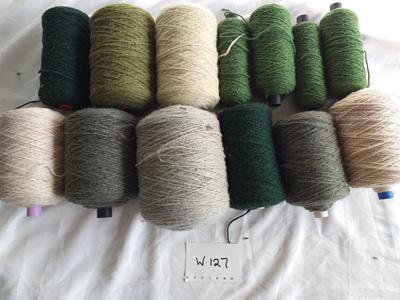 Coarse Craft Yarn Green  Tones W-127