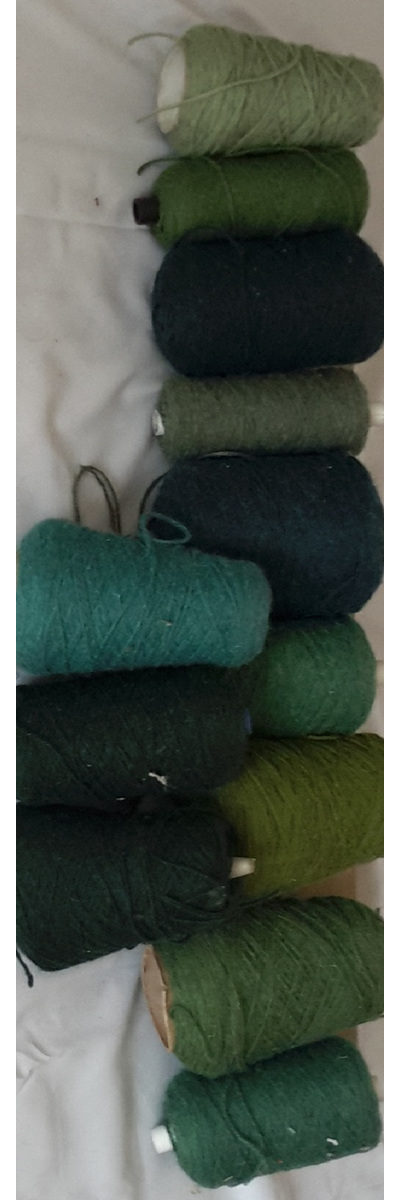 Coarse Yarn Blue Green Tones
