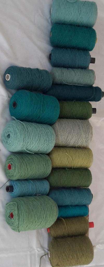 Coarse Yarn Blue-Green Tones