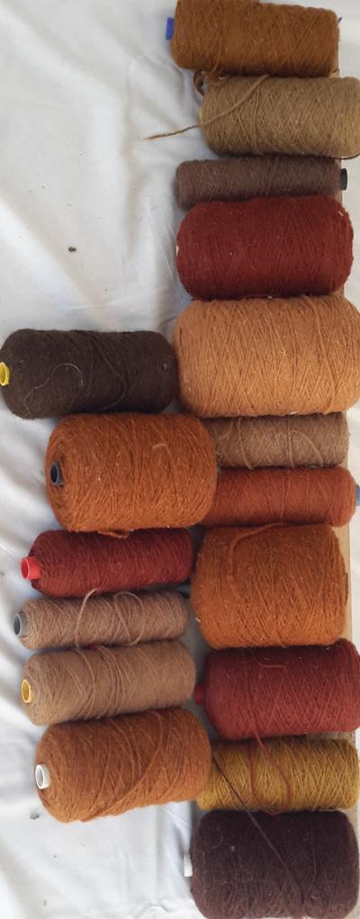 Coarse Yarn Brown/Terracotta Tones