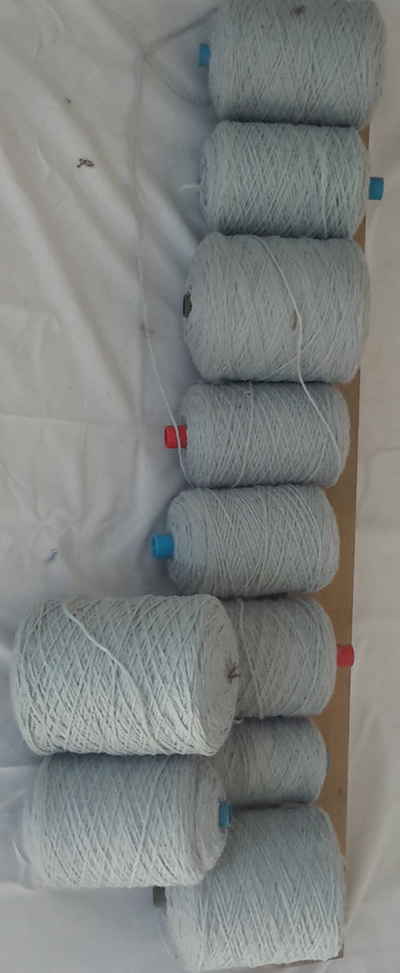 Coarse Yarn Duck Blue Tones