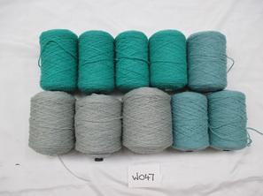 Coarse Yarn Grey Duck Blue Teal Tones