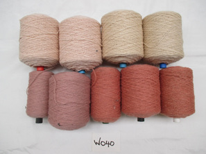 Coarse Yarn  Pink Peach and Cream Tones