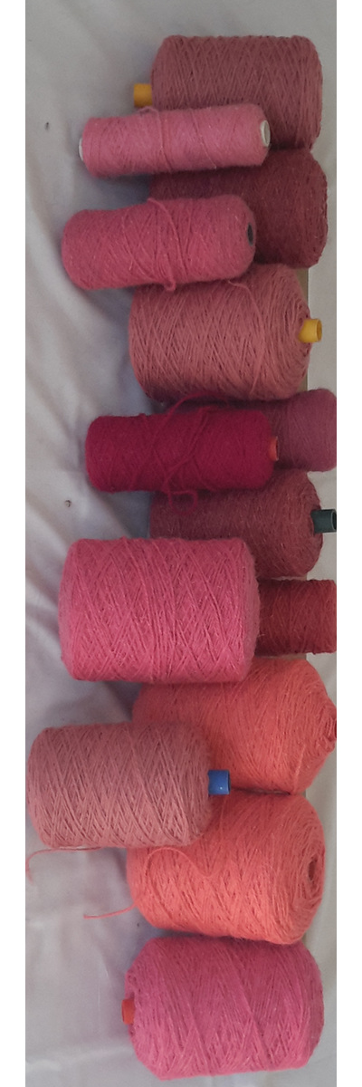 Coarse Yarn Pink Tones