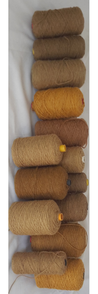 Coarse Yarn rich Beige and Camel Tones