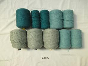 Coarse Yarn Soft Teal and Sea Blue Tones