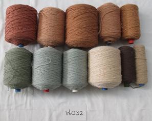 Coarse Yarn  W032 Beige & Teal Toned Colours