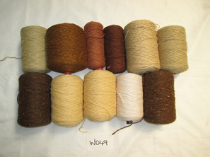 Coarse Yarn W049  Natural Green and Brown Tones