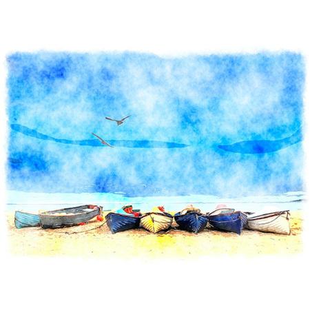 Coastal Blue Decoupage Paper by Mint