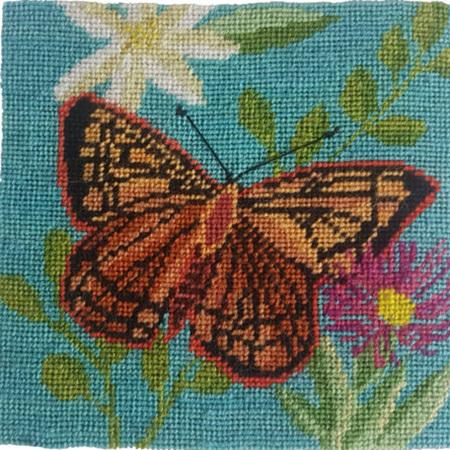 Coastal Copper Butterfly Needlepoint Kit