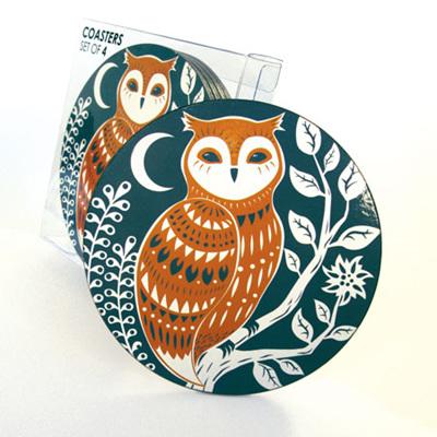 Coaster Set - Owl