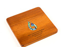coaster square with paua hook - ancient kauri